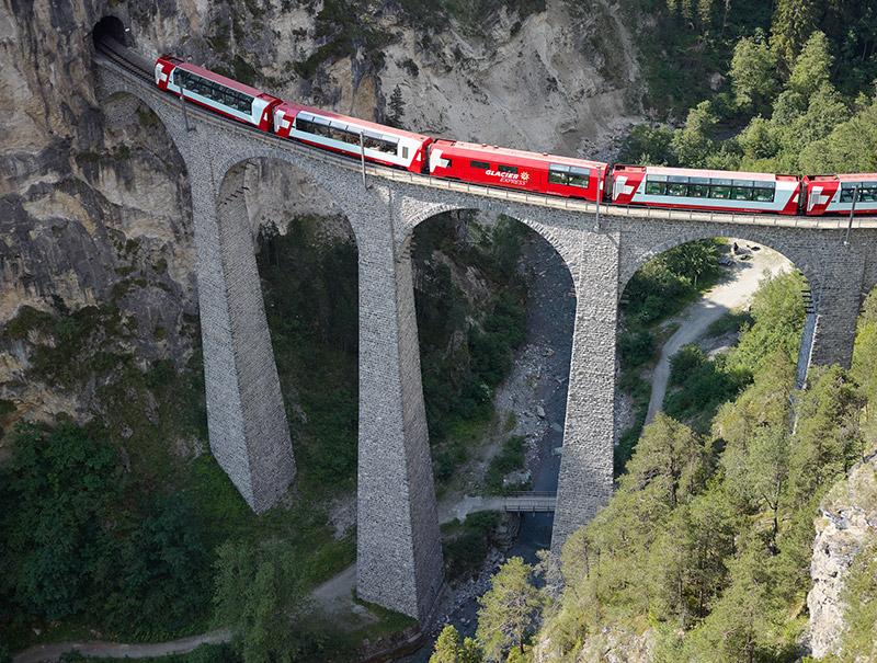 Landwasser Viadukt. Foto: Glacier Express